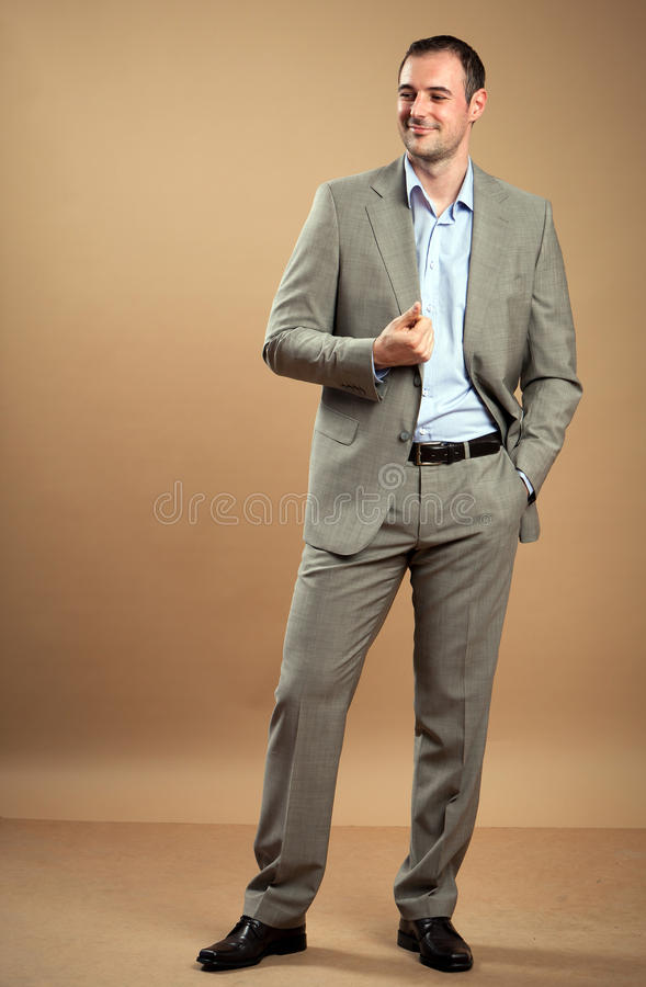 Download Young Businessman stock image. Image of grey, cool, entrepreneur - 26538729