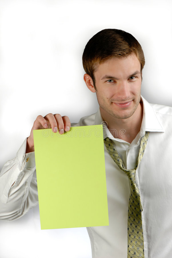 Download Young businessman stock image. Image of handsome, green - 3423029