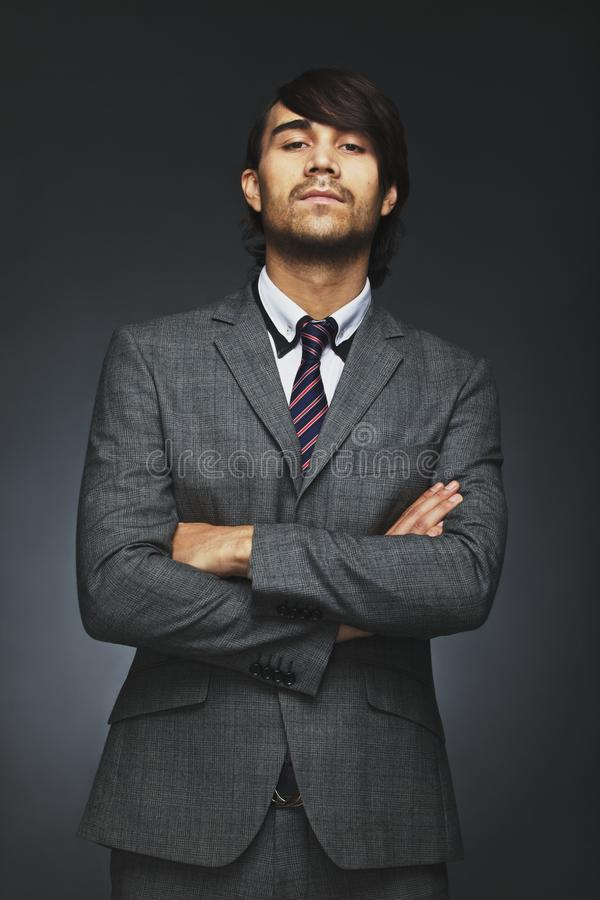Young businessman with attitude royalty free stock photo