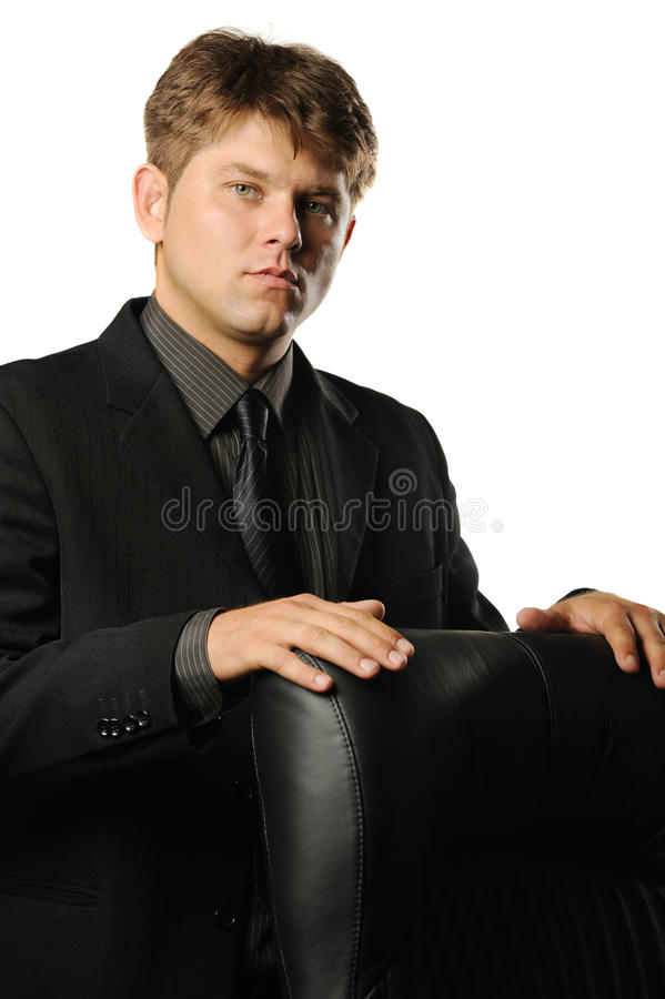 The Young Businessman In Bad Mood Royalty Free Stock Photo