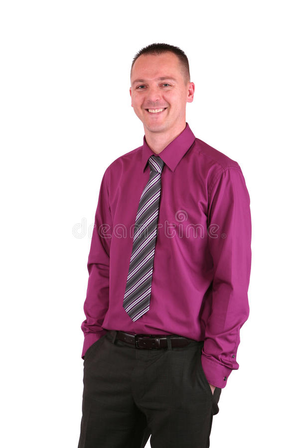 Young Businessman With A Big Smile Royalty Free Stock Photography