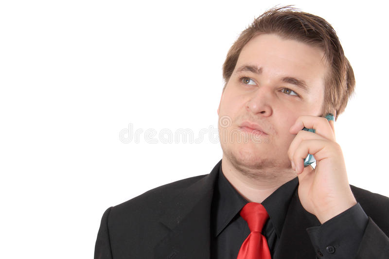 Young businessman in black royalty free stock photo