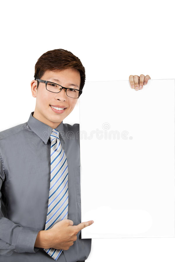 Download Young Businessman With Blank Board Stock Image - Image: 16295105
