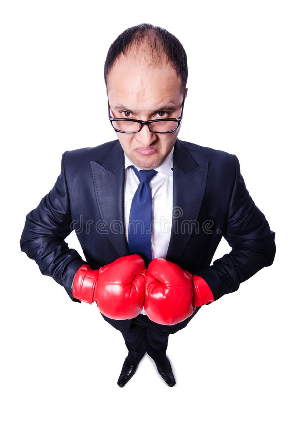 Download Young businessman boxer stock photo. Image of corporate - 30835398