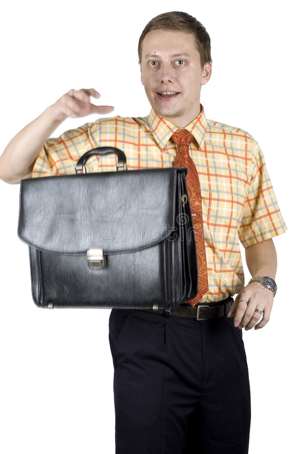 Download Young Businessman With Briefcase Stock Image - Image: 7689567