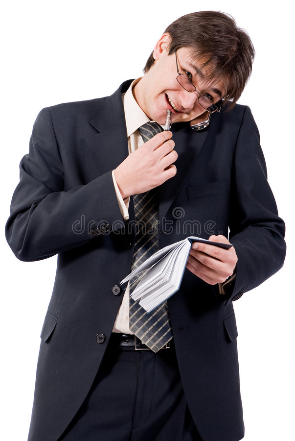 Free Young Businessman Calling By Cellular Phone Stock Photos - 8211583