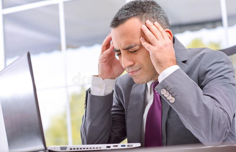 Young Businessman Failed royalty free stock image