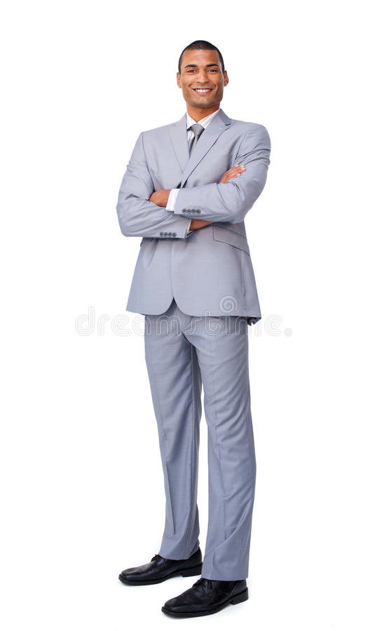 Download Young Businessman With Folded Arms Stock Image - Image: 12211647
