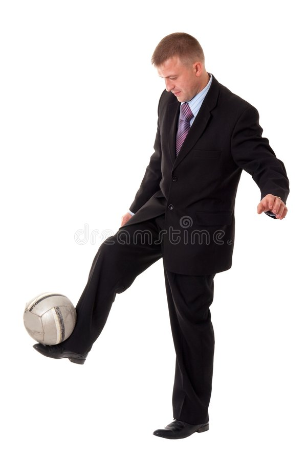 Download Young Businessman With Football Stock Image - Image: 7030699
