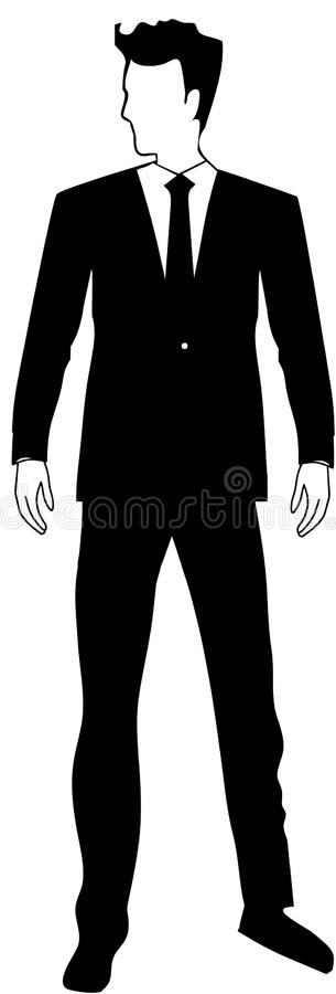 Young Businessman Handsome man. Man in tuxedo business person royalty free illustration
