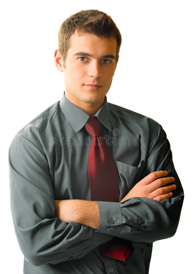 Young businessman, isolated stock images