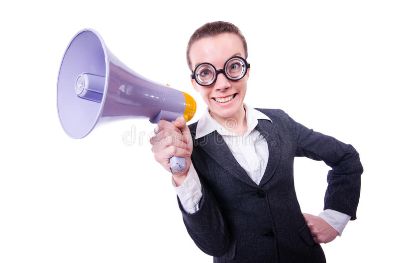 Download Young Businessman With Loudspeaker Stock Photo - Image: 30591206