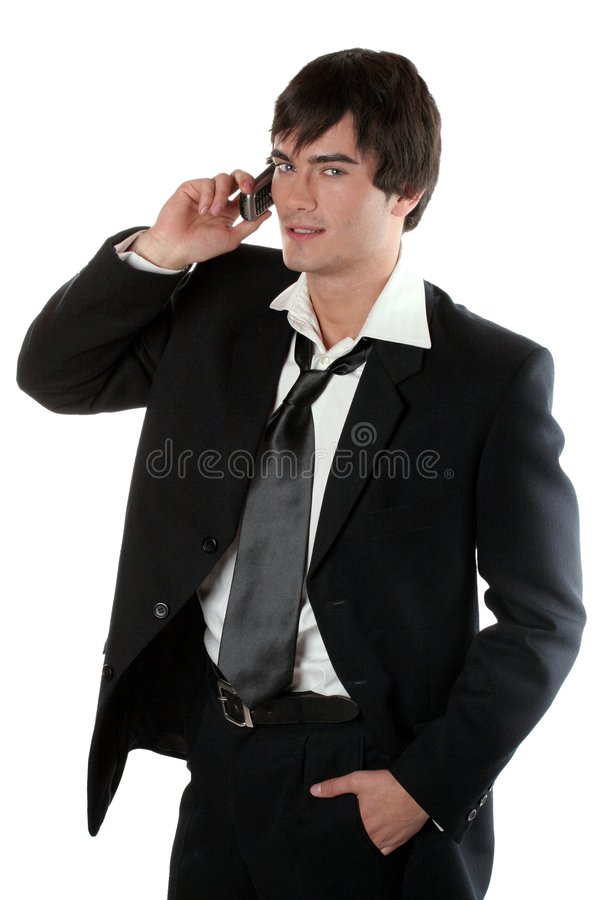 Young Businessman on the Phone stock photo
