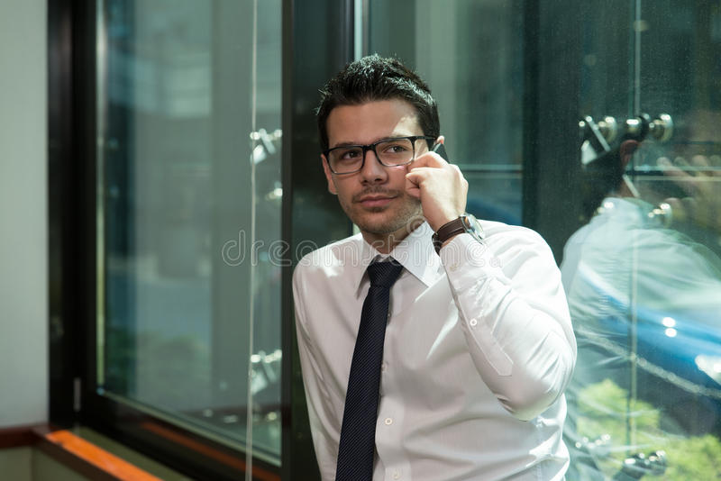 Download Young Businessman On The Phone Stock Image - Image: 43253137