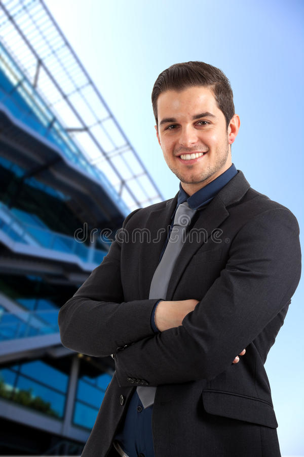 Young businessman portrait stock images