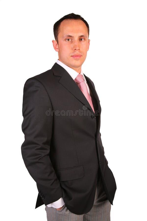 Young businessman posing royalty free stock photos