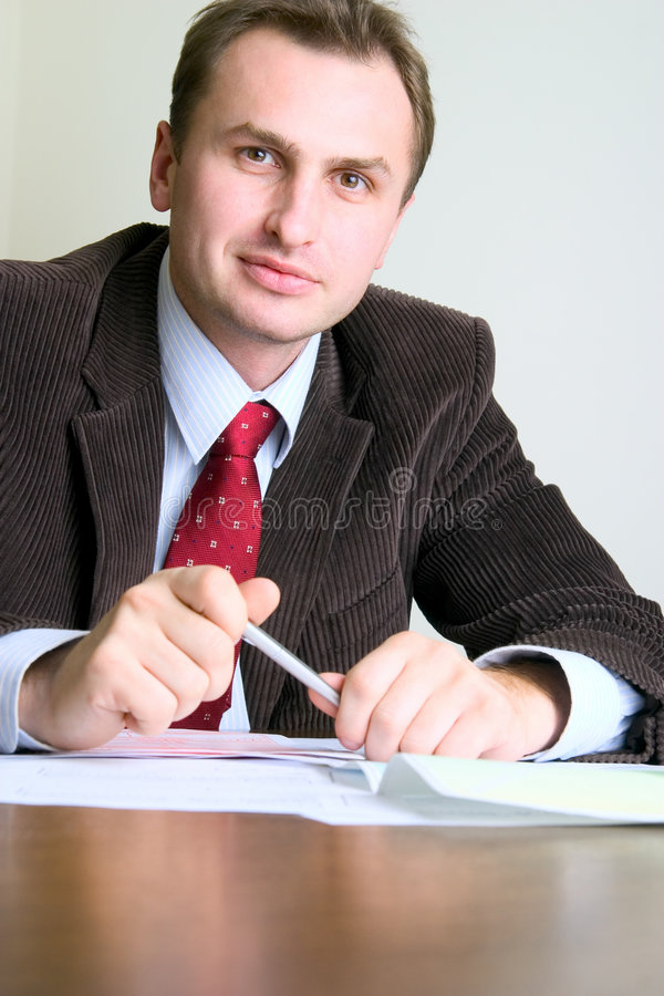 Young businessman's portrait royalty free stock photo