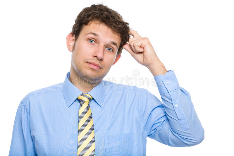 Download Young Businessman Scratching His Head, Confused Stock Photo - Image: 14862906