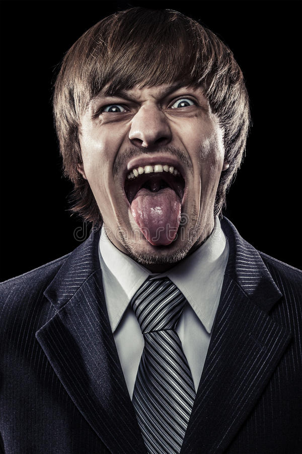 Download Young businessman shouting stock photo. Image of shirt - 26959660