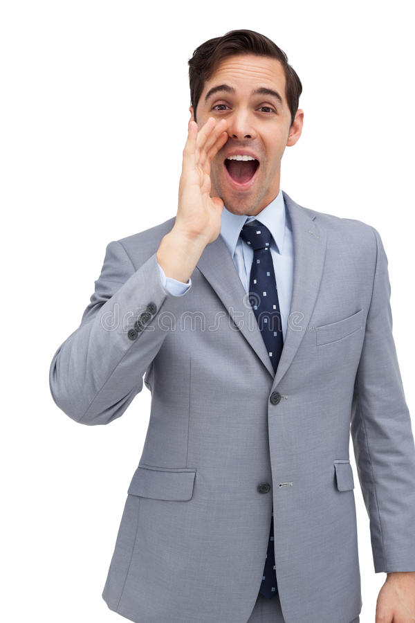 Download Young Businessman Shouting At The Camera Stock Photo - Image: 30882698