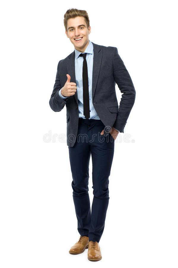 Young Businessman Showing Thumbs Up Stock Photography