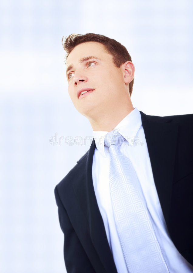 Download Young businessman standing stock image. Image of boss - 5469717