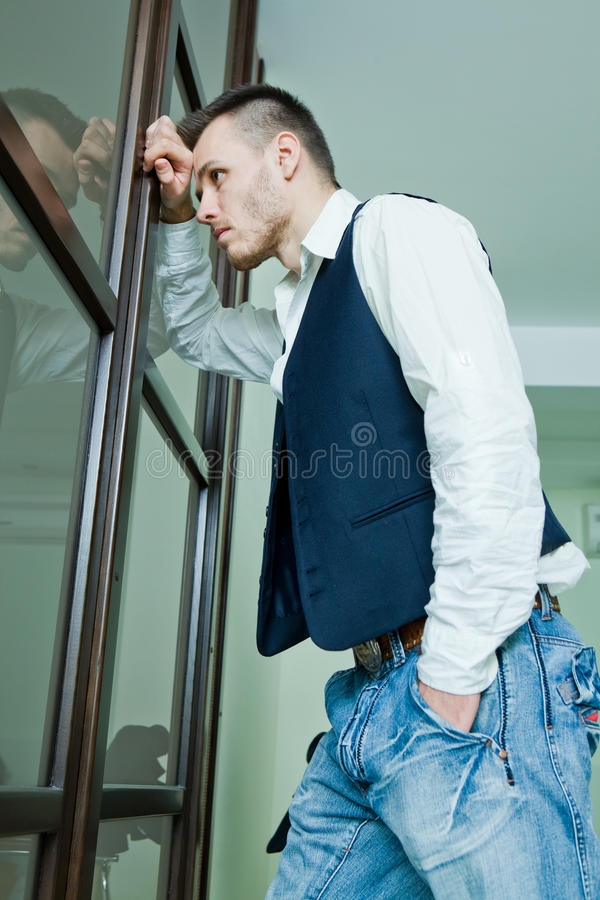 Download Young Businessman In Stress Stock Photo - Image: 23643990