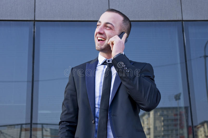 Download Young businessman stock photo. Image of expression, cellphone - 39500362