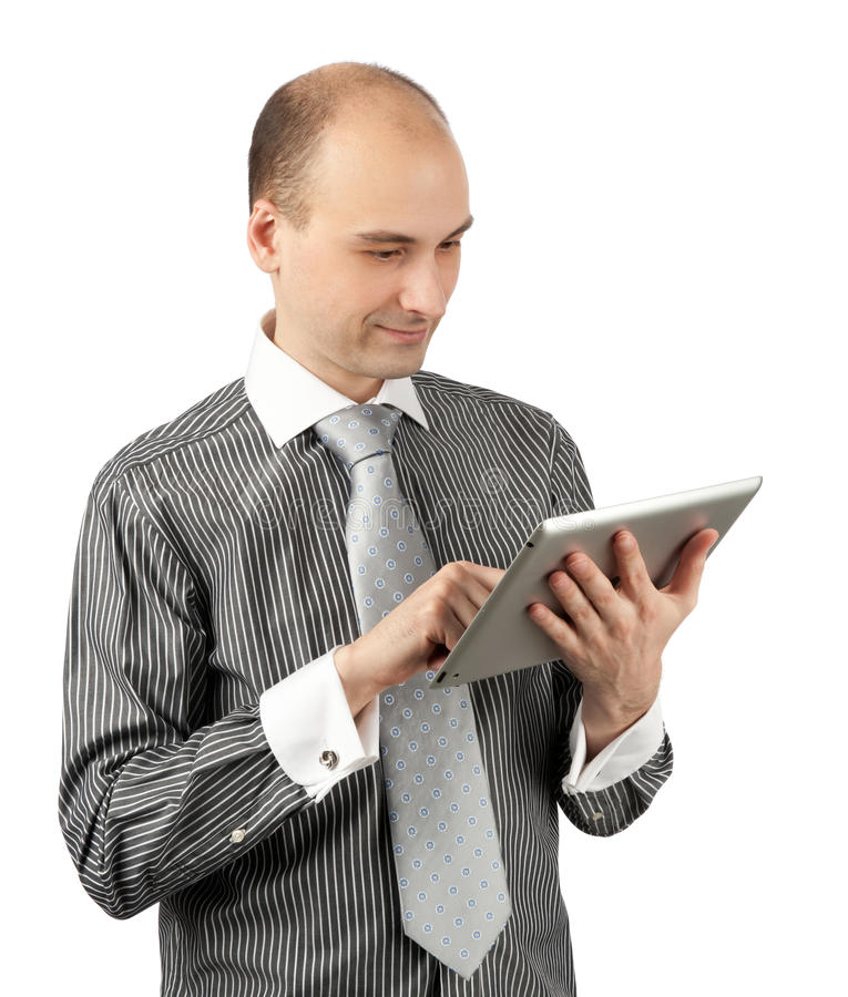 Download Young Businessman Using A Tablet Pc Stock Photography - Image: 24263102
