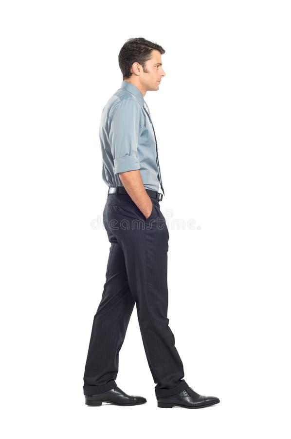 Young Businessman Walking royalty free stock photos