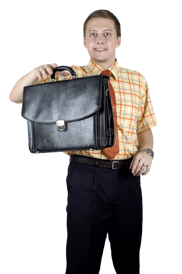 Free Young Businessman With Briefcase Stock Image - 7689561