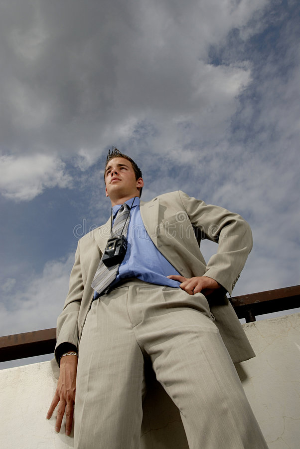 Free Young Businessman With Camera Royalty Free Stock Photography - 2804017