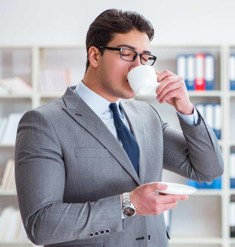 Young businessman working in the office stock photos