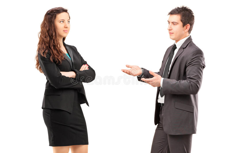 Download Young Businesspeople Having A Conversation Stock Image - Image: 30128265