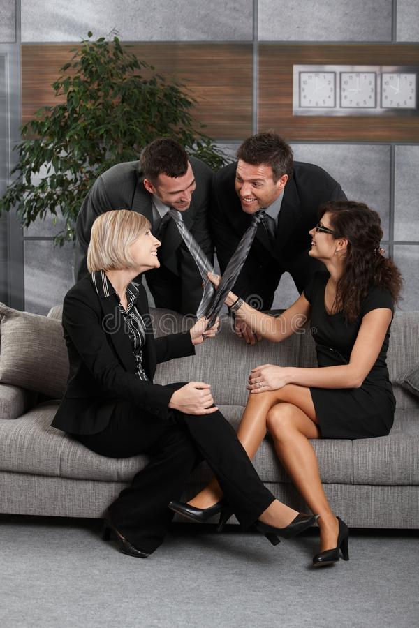 Download Young Businesspeople Having Fun In Office Stock Photo - Image: 19345620