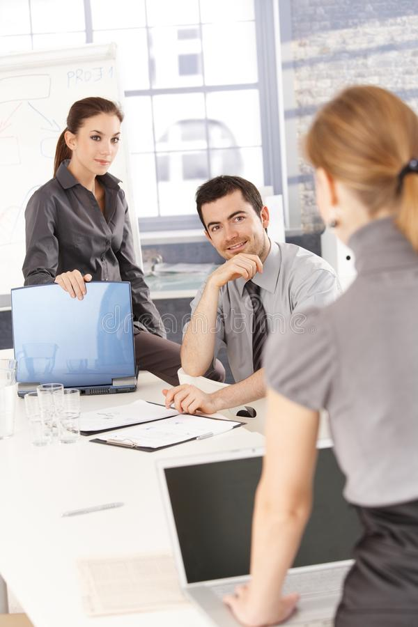 Young Businesspeople Having Training Royalty Free Stock Photo