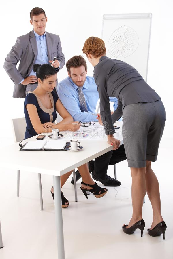 Download Young Businesspeople Working Together Stock Image - Image: 27468651