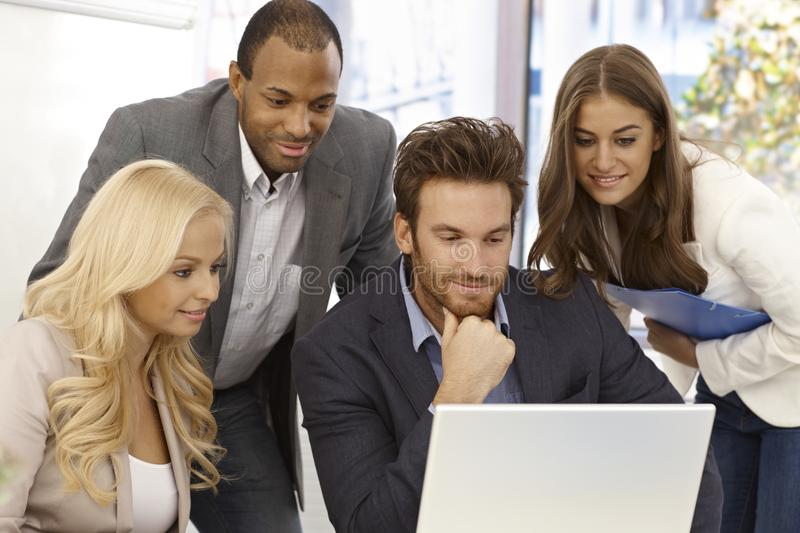 Young businesspeople working together royalty free stock image
