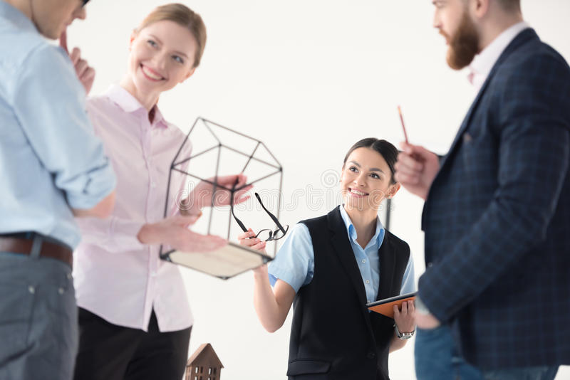Young businesspeople working together royalty free stock photography