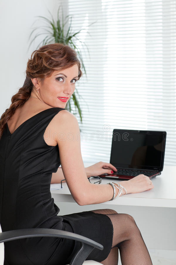Download Young businesswoman. stock photo. Image of desk, female - 19804906