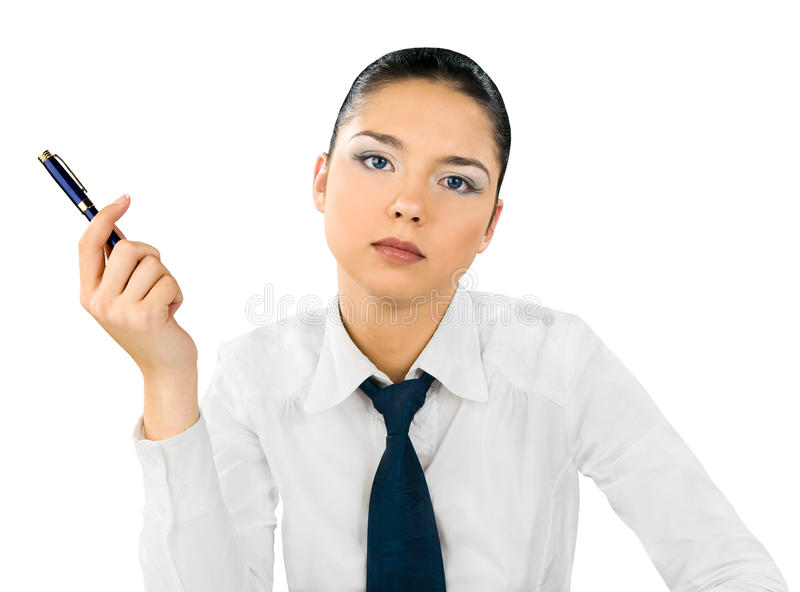 Young businesswoman. royalty free stock photo