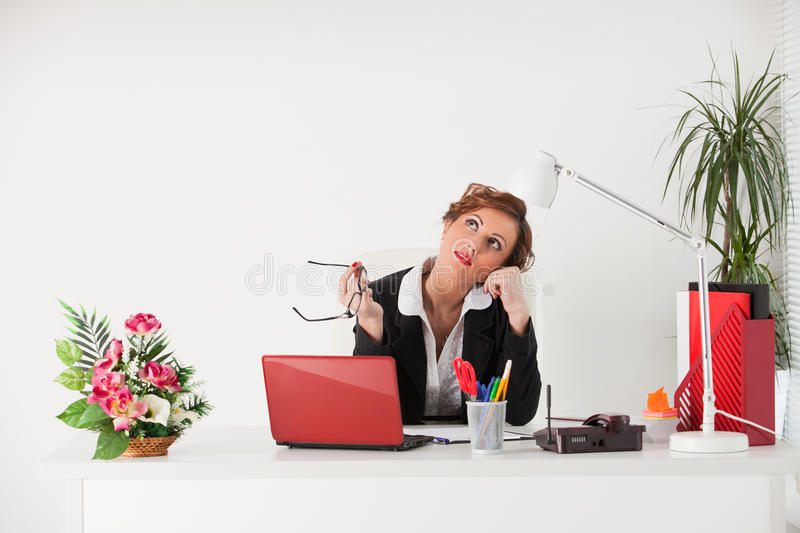 Download Young businesswoman. stock image. Image of female, education - 22712325