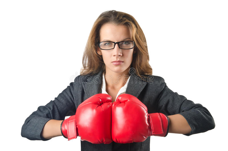 Download Young businesswoman stock photo. Image of boxing, fighter - 27316196