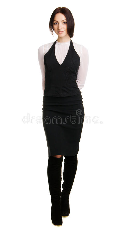 Download Young Businesswoman Full Length Portrait Stock Image - Image: 13216553