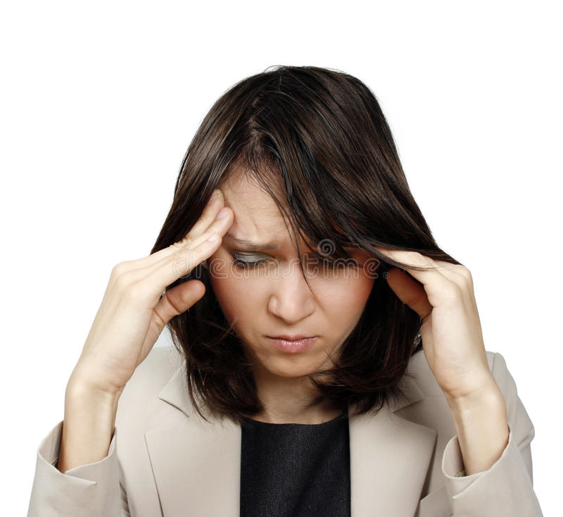 Download Young Businesswoman With Headache Stock Photo - Image: 16988826