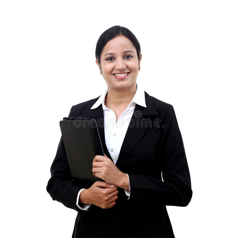 Free Young Businesswoman Holding File Stock Images - 52423234
