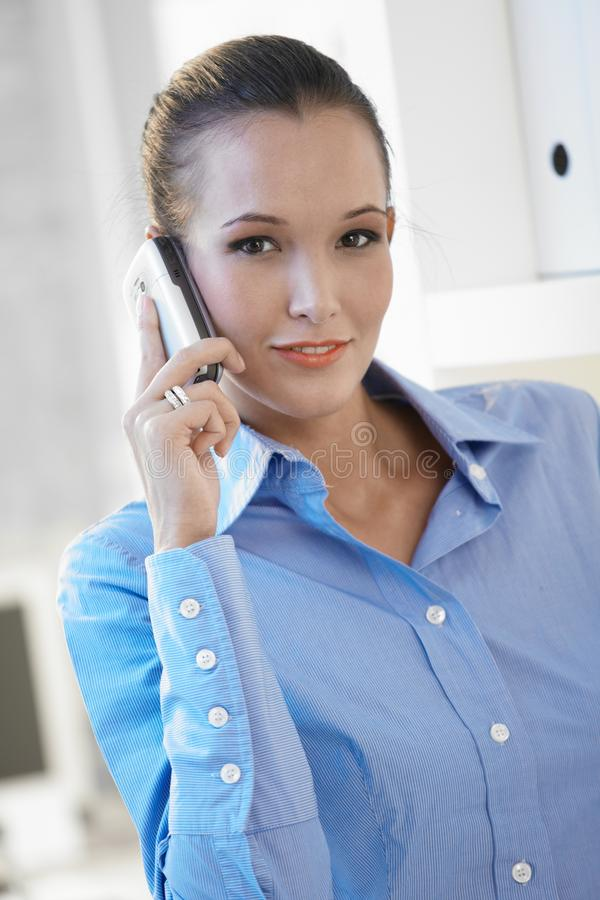 Download Young Businesswoman With Mobile Phone Stock Photo - Image: 16761780