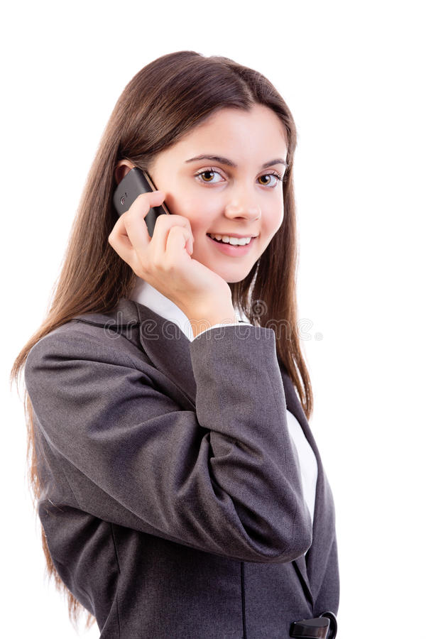 Download Young Businesswoman On Mobile Phone Royalty Free Stock Images - Image: 28222009