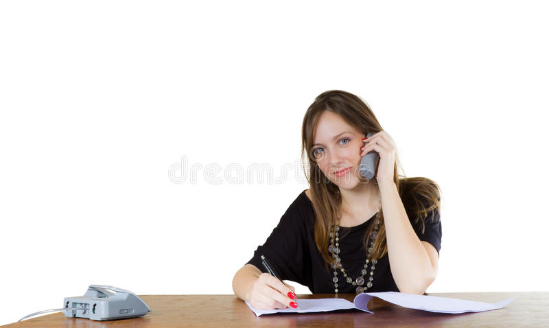 Download Young Businesswoman In An Office Stock Photos - Image: 18671803