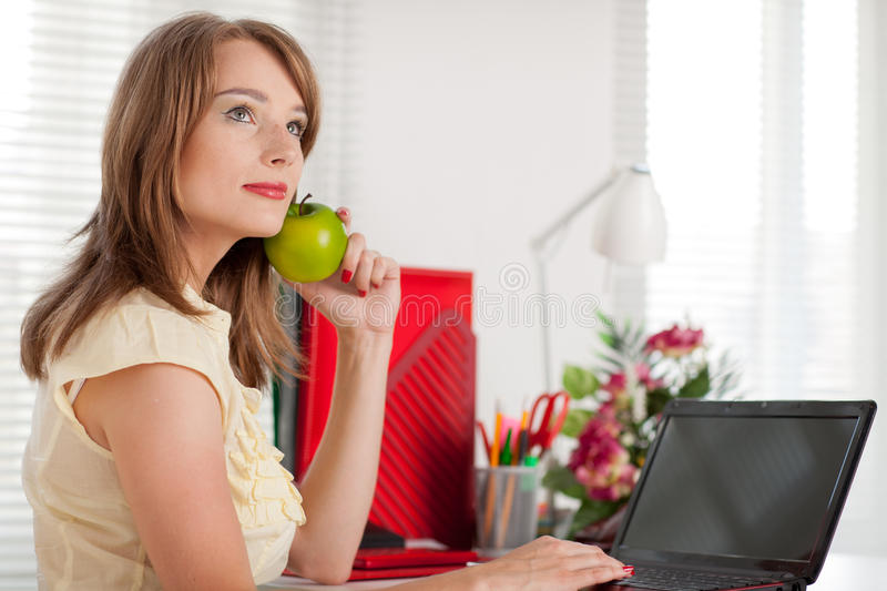 Download Young Businesswoman  At The Office. Stock Photo - Image: 20003460